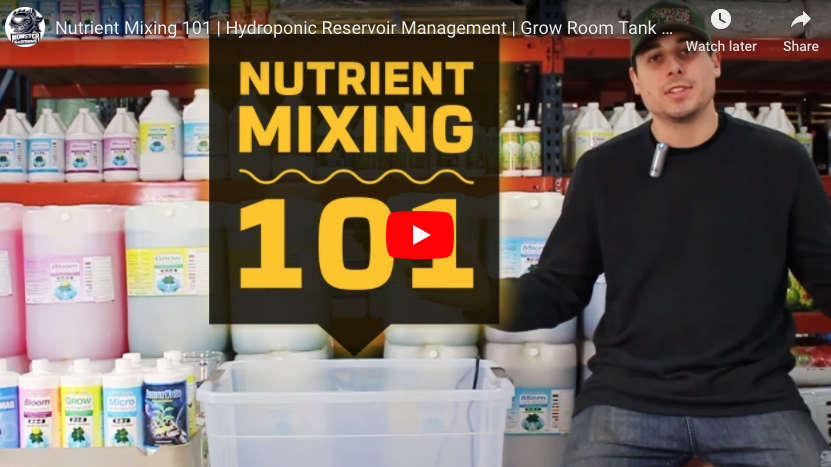 Nutrient Mixing 101 | Hydroponic Reservoir Management | Grow Room Tank Mixing